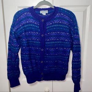 Vintage Nomadic Traders Chunky Knit Wool Cardigan